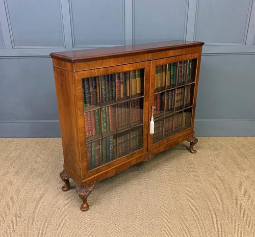Burr Walnut Glazed Bookcase (1 of 14)