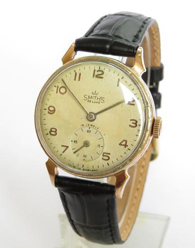 Gents 1940s Smiths De Luxe Wrist Watch (1 of 5)