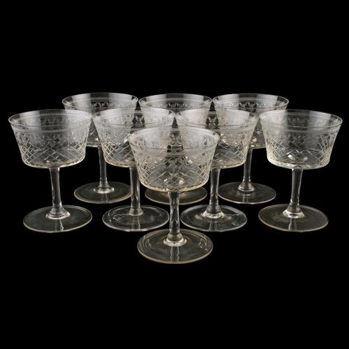 Set of Eight Champagne or Wine Glasses (1 of 7)