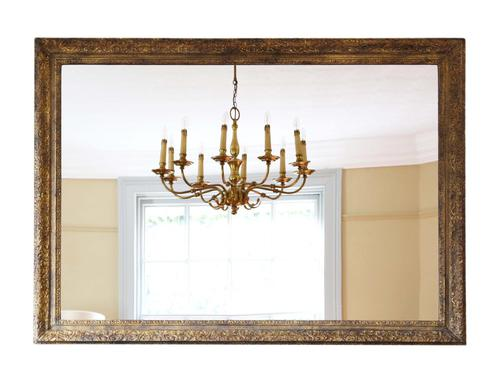 Gilt Large 19th Century Overmantle or Wall Mirror (1 of 9)