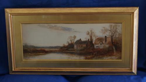 Cottage by a river landscape by Daniel Sherrin (1 of 9)