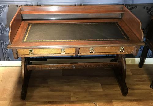 Victorian Gothic Oak Desk (1 of 8)
