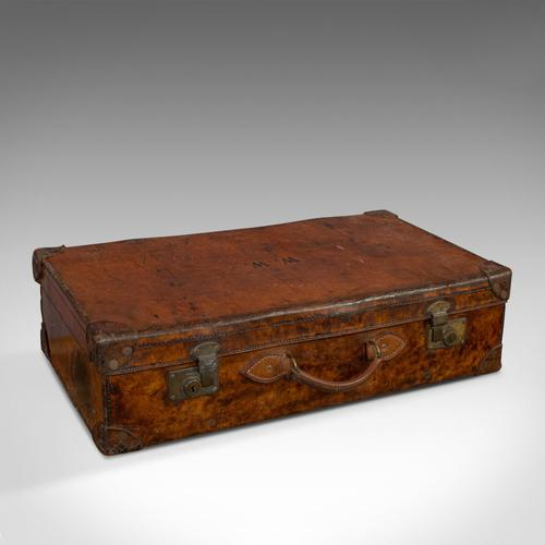 Antique Travel Suitcase, English, Leather, Gentleman's Case, Edwardian c.1910 (1 of 10)