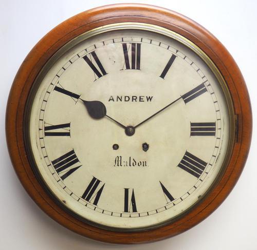 Antique Original Dial Wall Clock Rare Striking Station Public Dial Wall Clock (1 of 10)