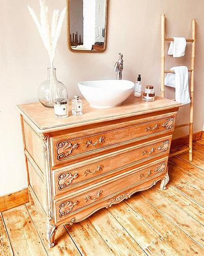 French Antique Style Washstand / Vanity / with Basin Sink (1 of 8)