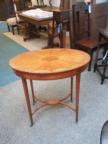 Edwardian Satinwood Oval Table (1 of 1)