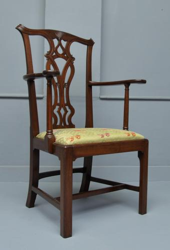 Chippendale Revival Mahogany Elbow Chair (1 of 13)