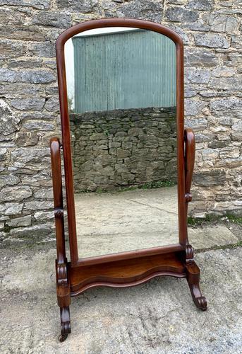 Victorian Floorstanding Mahogany Cheval Mirror (1 of 16)