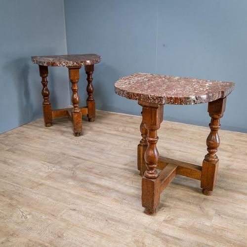 Pair of Marble Top Console Tables (1 of 10)