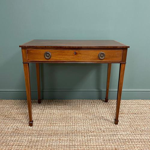 Stunning Georgian Mahogany Antique Side Table (1 of 8)