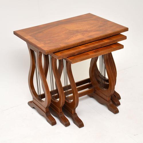 Antique Regency Style Figured Walnut Nest of Tables (1 of 12)