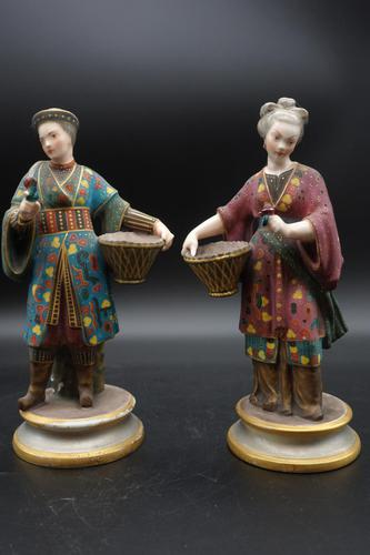 Charming Pair of Early 20th Century Meissen Figures in Oriental Garb (1 of 9)