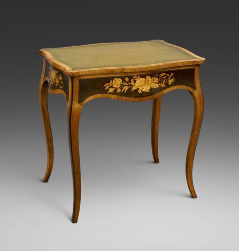 Fine Marquetry Inlaid Writing Table (1 of 6)