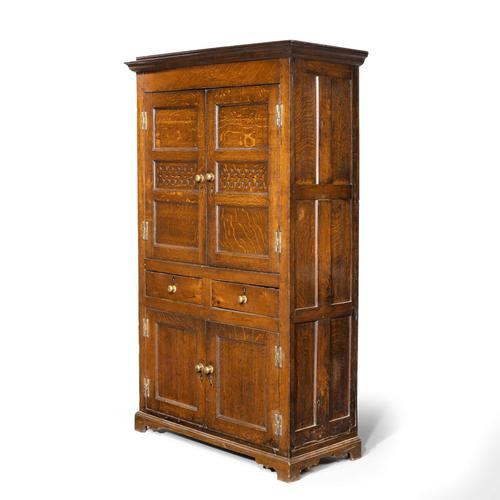 Quite Exceptionally Fine Late 18th Century Oak Cupboard (1 of 6)