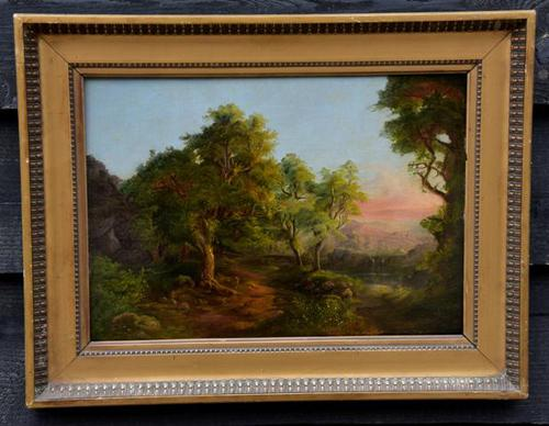 Good Quality 19th Century Oil on Board, Wooded Landscape (1 of 6)