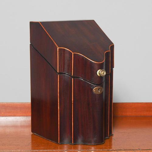 George III Inlaid Mahogany Knife Box (1 of 9)