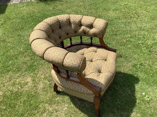 Late Mahogany Victorian Tub / Occasional Chair (1 of 4)