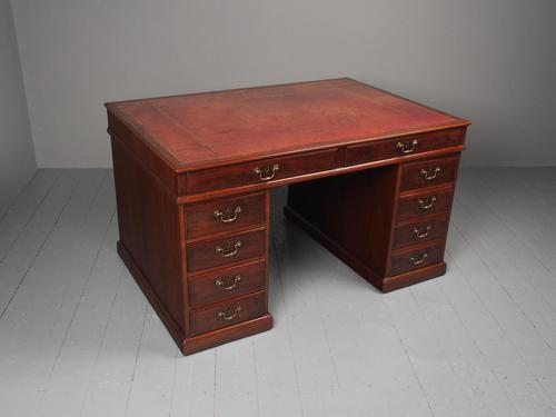 George III Mahogany Partners Desk (1 of 10)