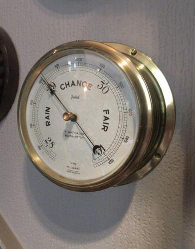 Antique Southampton Bulkhead Marine Barometer (1 of 7)