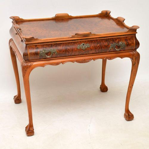 Antique Burr Walnut Tray Top Side Table (1 of 8)