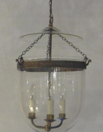 Vintage Hundi Lantern with 3 Light Fitting in Brass (1 of 3)