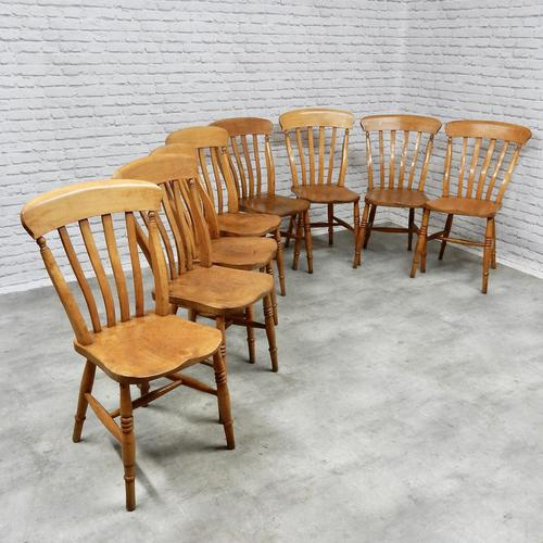 Set of 8 Antique Windsor Kitchen Chairs (1 of 6)