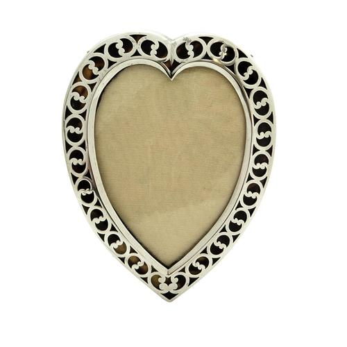 """Antique Victorian Sterling Silver & Tortoiseshell 7"""" Heart Photo Frame 1894 (1 of 10)"""
