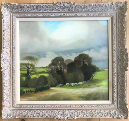 Original Oil on Board 'Sheep in a Meadow' by Peter Gardner. B.1921. Signed & Dated 1971 Verso (1 of 3)