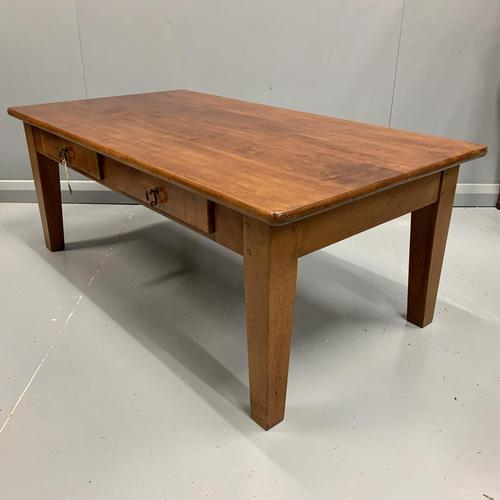 French Cherrywood Coffee Table with Drawers (1 of 5)