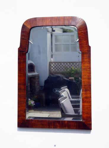 Small Early 20th Art Nouveau Rosewood Wall or Pad  Mirror (1 of 11)