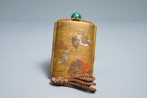 Antique Edo Japanese Inro, Netsuke & Ojime - Kansai and Jokosai (1 of 20)