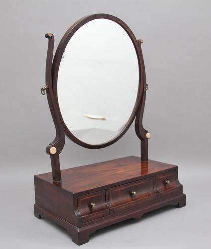 Early 19th Century Mahogany Dressing Mirror (1 of 9)