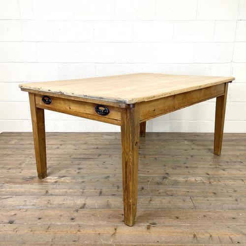 Victorian Pine Scrub Top Farmhouse Table (1 of 10)