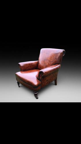 Leather Library Armchair (1 of 4)