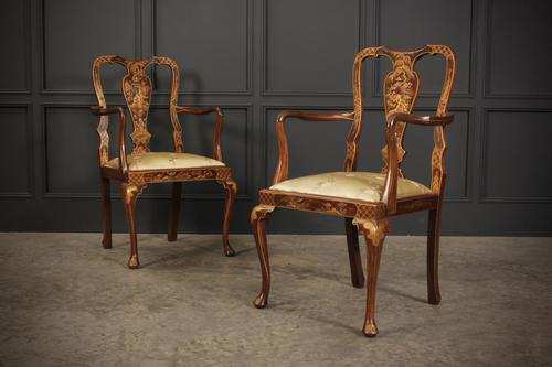 Pair of Chinoiserie Japanned Armchairs (1 of 16)