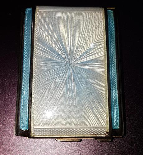Art Deco Silver & Enamel Matchbook Case (1 of 4)