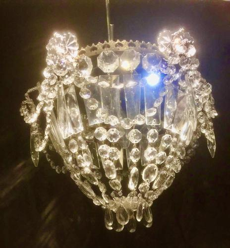 Small One Light French Bag Chandelier (1 of 5)