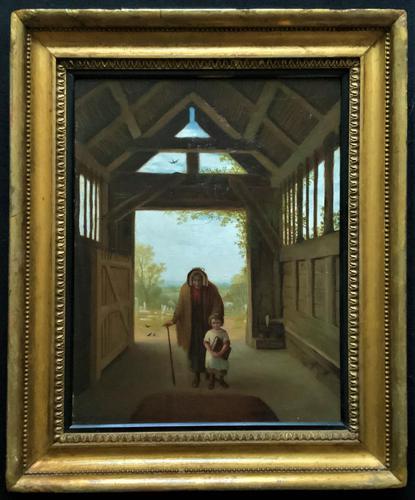 'Sunday Morning' An Enchanting Original 19thc Portrait Oil Painting' (1 of 14)