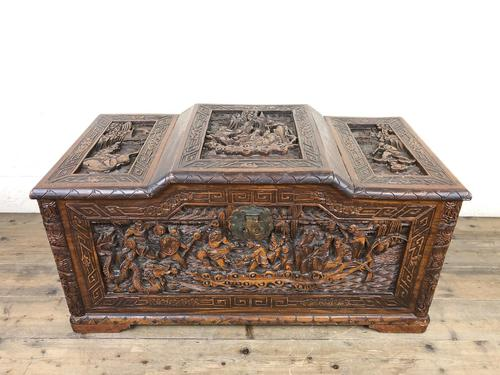 Early 20th Century Carved Camphor Trunk (1 of 14)