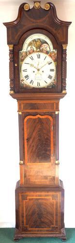 Fine English Longcase Clock John Fenton Congleton 8-day Striking Grandfather Clock Solid Mahogany Case (1 of 16)