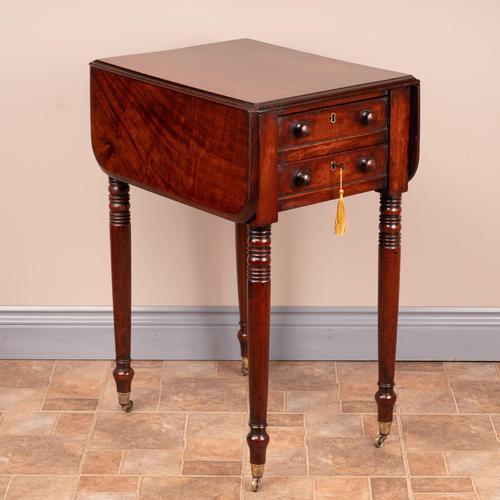 19th Century Mahogany Pembroke Work Table (1 of 13)