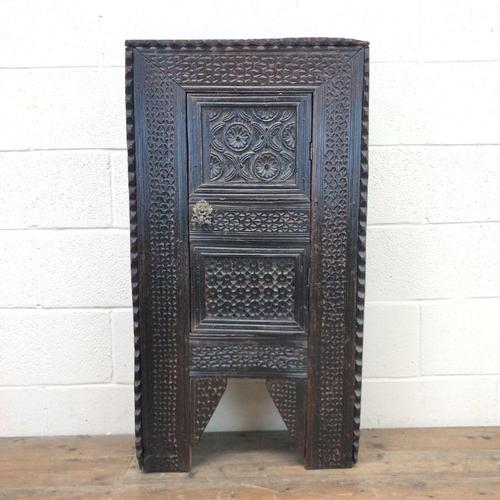 Unusual Antique Carved Side Cupboard (1 of 11)