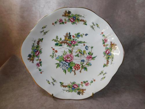 Crown Staffordshire, Pagoda Pattern Sandwich Plate (1 of 3)