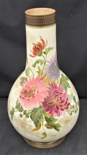 Doulton Burslem Large Eggshell Ground Vase c.1885 (1 of 11)