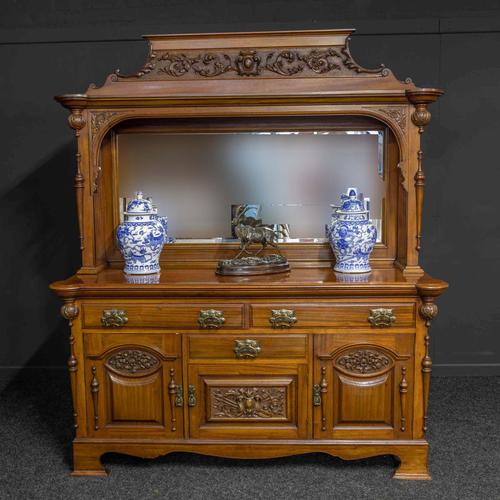 Late Victorian Mahogany Sideboard (1 of 19)