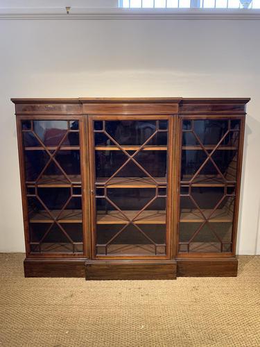 Edwardian Breakfront Bookcase (1 of 13)