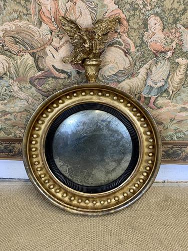 Stunning English Regency Convex Mirror With Eagle (1 of 6)