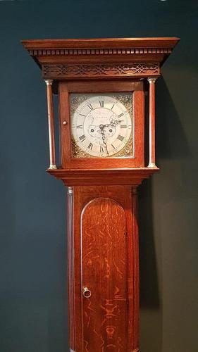 Small Georgian Antique 8 Day Thirsk Longcase Clock (1 of 8)