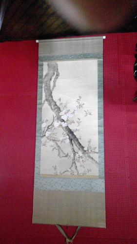Antique Japanese Meiji Period Scroll Painting (1 of 6)