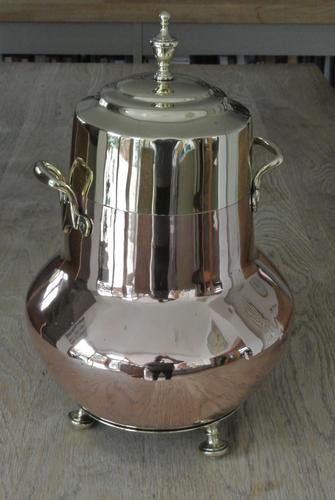 19th Century Dutch Copper & Brass Ash Bucket 'Doofpot' Peat Castellated Seam (1 of 9)